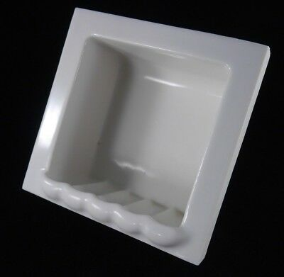 Antique Vintage Tile-In White Soap Dish 1920's Bathroom Specialty Co.