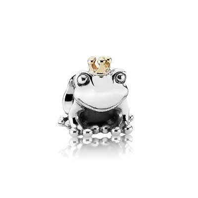New! Authentic PANDORA S925 ALE Frog Prince Charm Silver & 14K crown #791118