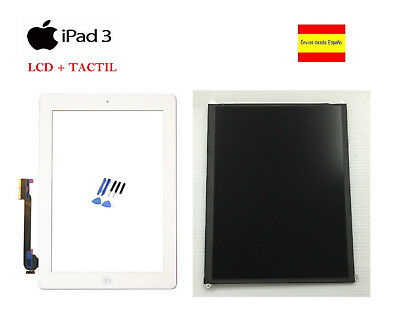 Lcd + Pantalla Tactil Digitalizador + Adhesivo + Home Apple Ipad 3 Blanco Blanca