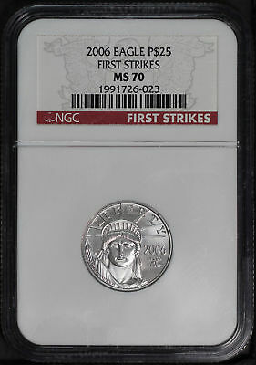2006 $25 American Platinum Eagle 1/4 oz NGC MS-70 First Strike -167647