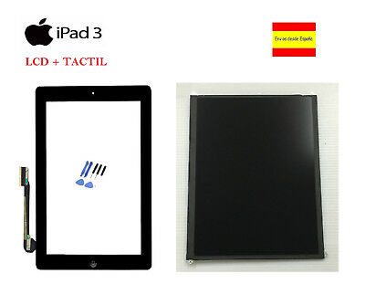 Lcd + Pantalla Tactil Digitalizador + Adhesivo + Home Apple Ipad 3 Negro Negra