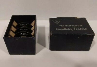 Vertometer auxiliary prisms 3.00-6.00-9.00 w box, Bausch & Lomb Optical prisms