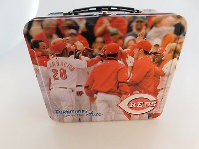 2008 Cincinnati Reds Furniture Fair Metal Lunch Box Lunchbox RARE