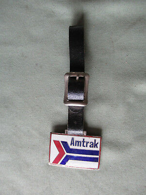 Railroad Watch Fob from Amtrak with its Leather Strap.  A Classic Issue.    Exc