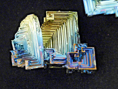 A BIG Lot of THREE! Super Neat BISMUTH Crystals Made in England! 116gr