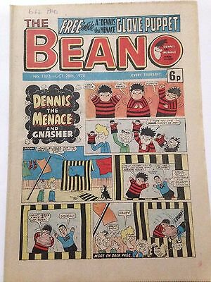 DC Thompson THE BEANO Comic. Issue 1893 October 28th 1978 **FREE UK POSTAGE**