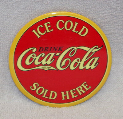 Coca- Cola Ice Cold Sold Here Metal Magnet, New!