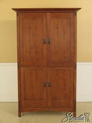 45202EC: STICKLEY Mission Oak TV Armoire Cabinet
