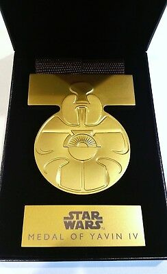 Disney Star Wars 1:1 Scale Replica Medal Of Yavin A New Hope Factory Sealed NEW