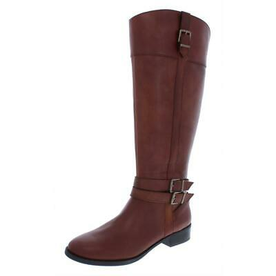 99ab9a3cb INC Womens Frank II Leather Wide Calf Knee High Riding Boots Shoes BHFO 5125