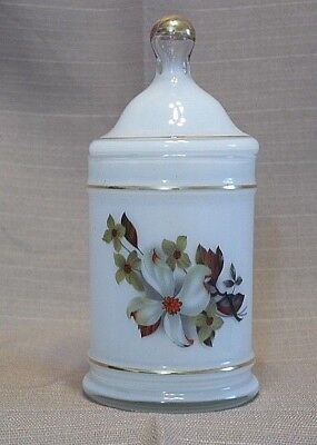 White Frosted Glass Apothecary Lidded Jar  10/2*100