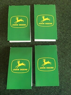 John Deere Pocket Notebook 4 Pack Old Style JD Logo Green Four Note Pads