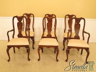 30127EC: Set Of 6 HARDEN Cherry Queen Anne Dining Room Chairs