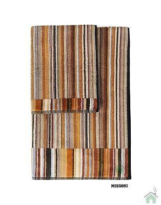 Missoni Home Towels - 1 hand towel + 1 bath towel  Jazz var.160 striped brown