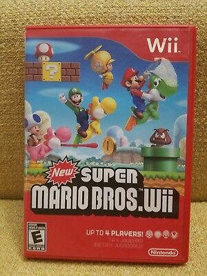 Nintendo Wii New Super Mario Bros Wii Replacement CASE & INSERTS ONLY