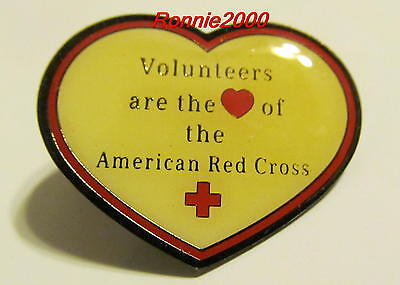 VOLUNTEERS ARE THE HEART  American Red Cross pin
