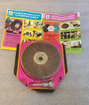"1 new Merit Grind-O-Flex 5"" x 1"" x 1 3/4"" Al, 80 Grit, Sanding Flap Wheel C-51M"