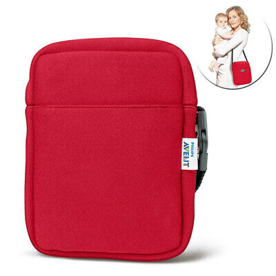 Avent Neoprene Hot Cold ThermaBag Baby Bottle Insulated Thermo Bag Warmer Red