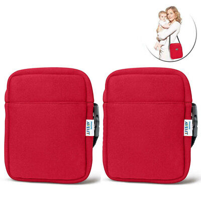 2x Avent Neoprene Hot Cold ThermaBag Baby Warmer Bottle Insulated Thermo Bag Red