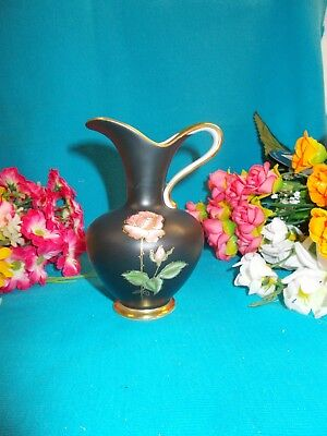 GORGEOUS BLACK AND GOLD JUG - ROYAL PORCELAIN - GERMANY 11 cm H - EXC COND