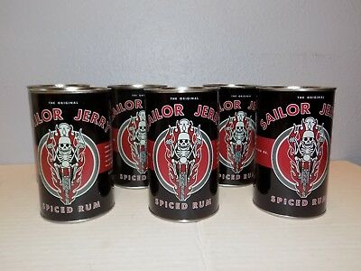 (6X) Sailor Jerry Spiced Rum Tins Cups SJR531215 Skull Motorcycle Tattoo Tiki