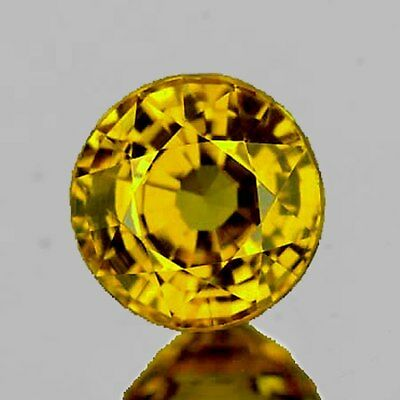 5.30 mm ROUND 0.75cts NATURAL GOLDEN YELLOW MALI GARNET [FLAWLESS-VVS]