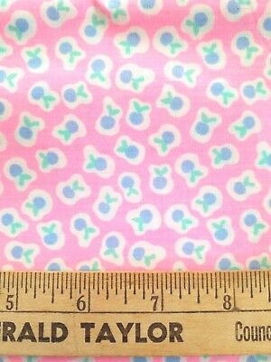 "Vintage Rare Mattel Cherry Merry Muffin Fruit Fabric Sewing 45"" x 2 1/8 Yard"