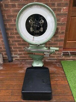 Toledo Vintage Industrial 110 Kg Scales Good In Working Condition.