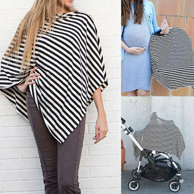 Mother Breastfeeding Cover Scarf Baby Seat Carseat Stretchy Shawl Cover Nursing
