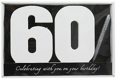 Wooden Birthday Signature Plaque ~ Happy 60Th Birthday Gift
