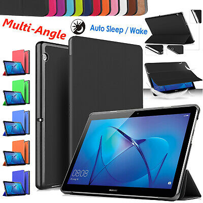 "Leather Hard Shell Smart Case Cover For Huawei MediaPad T3 10 (9.6"") 8"" 7"" Inch"