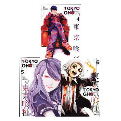 Tokyo Ghoul Anime & Manga Volume 4-6 Collection 3 Books Set pack NEW Sui Ishida