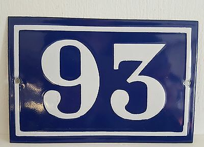 ANTIQUE FRENCH ENAMEL HOUSE NUMBER SIGN Door gate plaque street plate 93