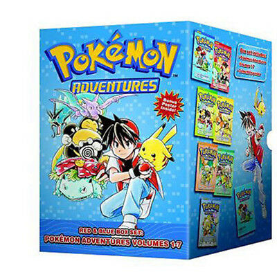 Pokemon Adventures Red & Blue Box Set: Volumes 1-7 by Mato Paperback NEW