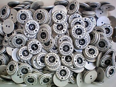 15mm 18mm 21mm Silver Grey Satin Metal 2 Hole Industrial Buttons (XM94A-C) X