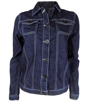 Girls Dark Blue Denim Jacket Button Front UK 6/7 - 14/15yrs