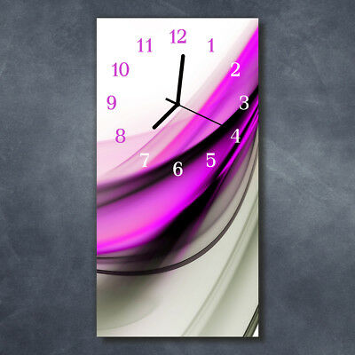 Tulup Glass Wall Clock Kitchen Clocks 30x60 cm Abstract Multicoloured