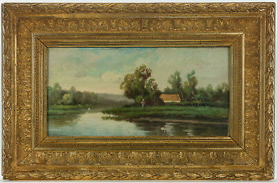 Follower of Franz Richard Unterberger - Early 20th Century Oil, River Landscape