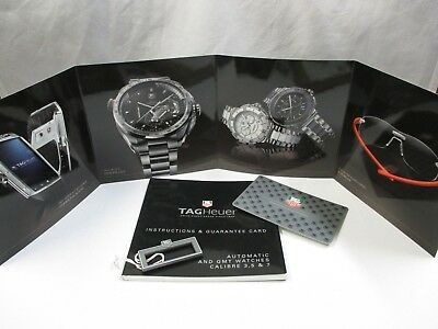 TAG HEUER Automatic/GMT Watch Calibre 3 5 7 Instructions Book Guarantee Card Tag