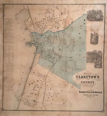 Plan of Tarrytown and Vicinity, Westchester Co. N.Y. New York: 1868.
