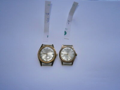 Job lot of vintage gents watches mechanical watches working swiss made