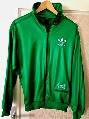 ORIGINAL ADIDAS CHILE 62 Jacke Gr S Grün shiny retro rar