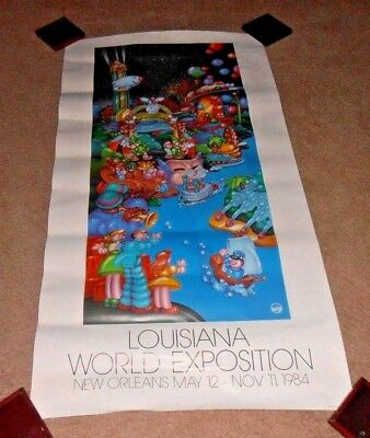 Vintage & Rare 1984 New Orleans World's Fair Exposition Old Poster