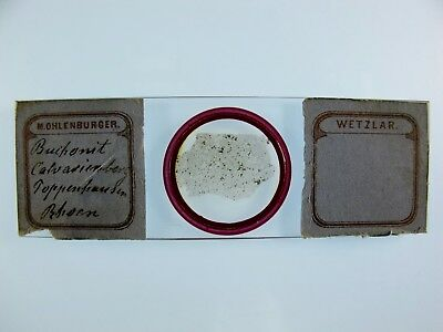 Antique Microscope Slide by M. Ohlenburger. Petrology. from Rhoen.