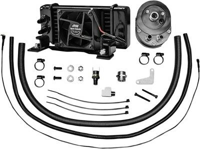 Jagg Lowmount Fan-Assisted 10-Row Oil Cooler System #751-FP2300 Harley Davidson