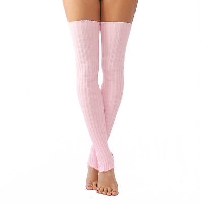 Knitted Plain and Sparkly Stirrup Leg Warmers 60cm and 90cm long