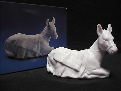 Avon Nativity Collectibles THE DONKEY White Porcelain Bisque Figurine