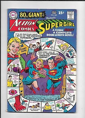Action Comics #360 ==> Fn/vf Supergirl & Full Length Novel (80 Page Giant) 1968