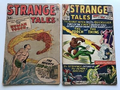 Strange Tales #107 & 128 ==> Early Sub-Mariner & Scarlet Witch/quicksilver 1963