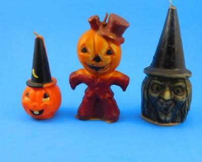 Vintage Halloween Candle Collection Witch Pumkins Holiday